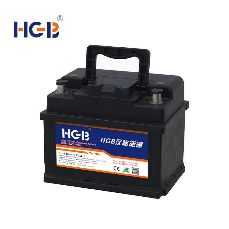 Vehicle starter battery HGB -201202 Graphene Car Battery