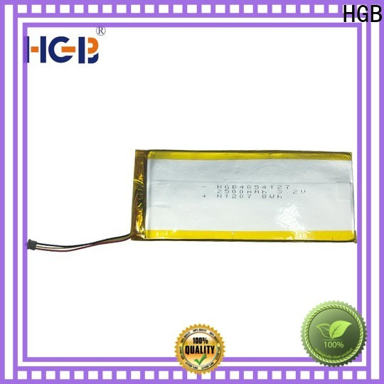 HGB quality thin lithium polymer battery customized for notebook