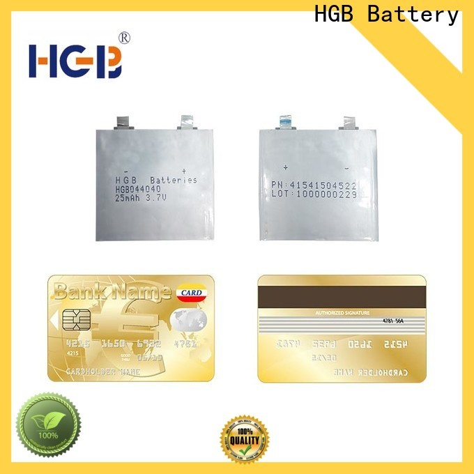 HGB super thin battery supplier for smart cards