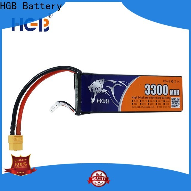 HGB rc lithium polymer batteries manufacturer for RC helicopter
