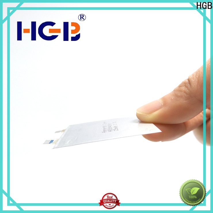 HGB primary ultrathin rechargeable lithium polymer batteries supplier for smart cards