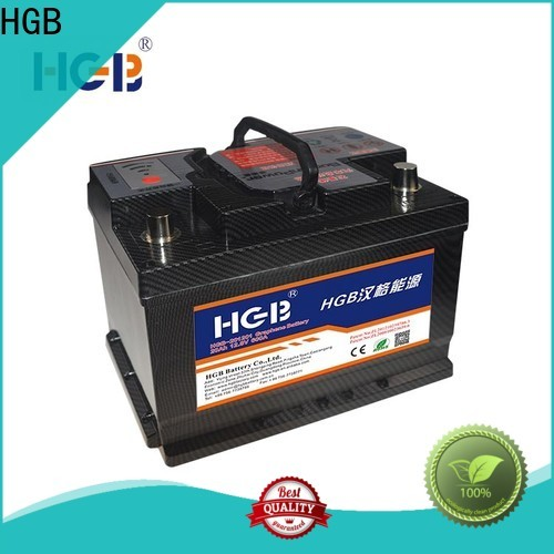 HGB charge quickly graphene car batteries customized for cars