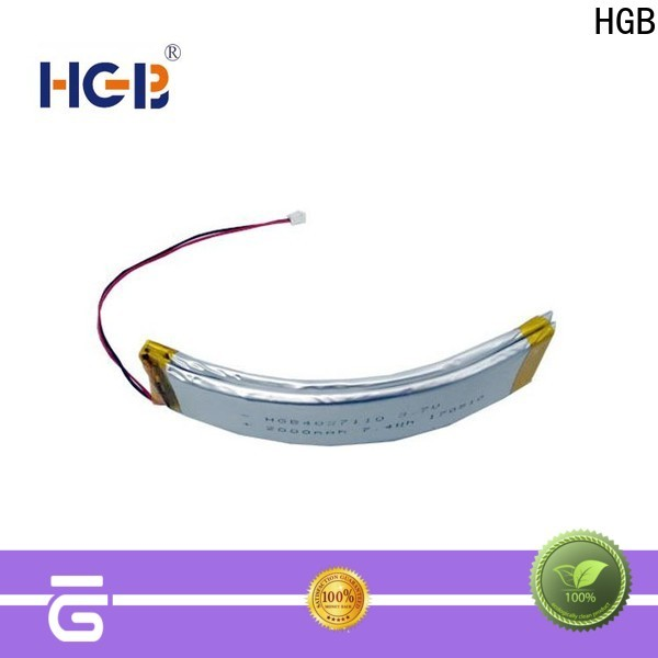 HGB flexible rechargeable battery supplier for smart bracelet