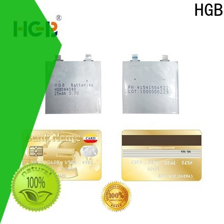 HGB thinnest lithium ion battery manufacturer for tracking devices