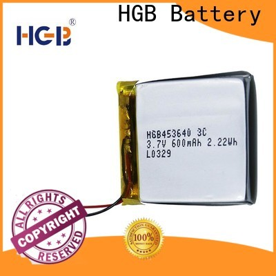 HGB rechargeable lithium polymer battery manufacturer for mobile devices