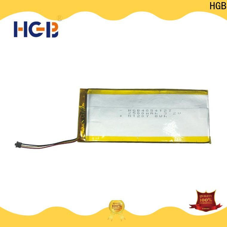 HGB light weight rechargeable lithium polymer battery factory price for computers