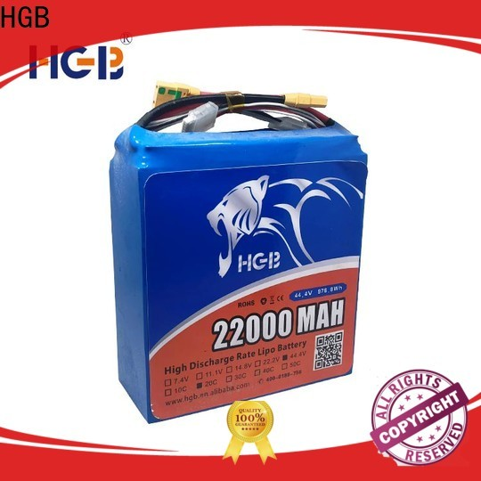 HGB reliable lithium polymer battery for drone customized for Aircraft
