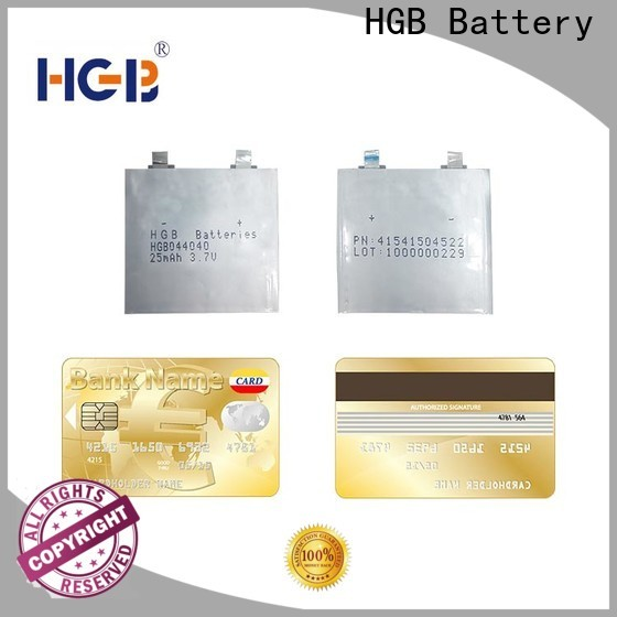 HGB thinnest rechargeable battery wholesale for micro speakers