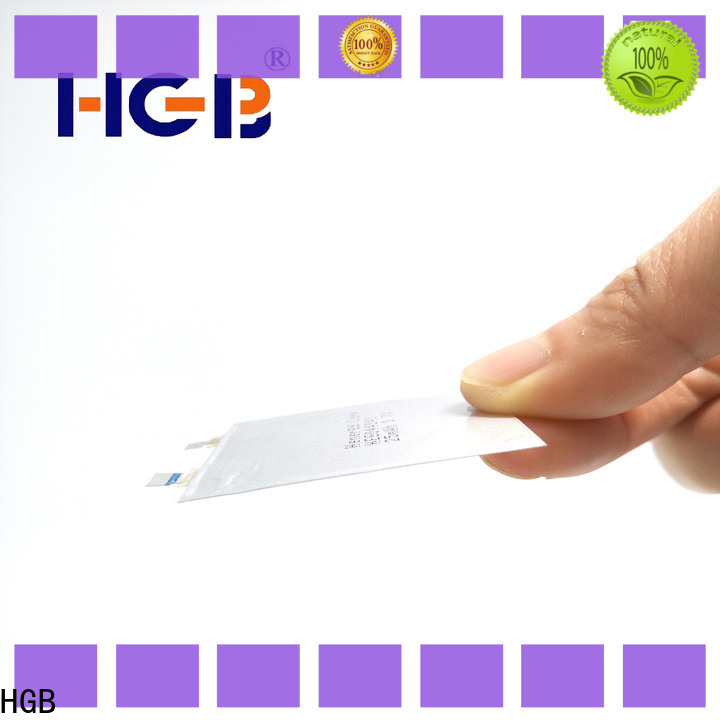 HGB ultra thin lithium polymer battery manufacturer for portable sensors power cards