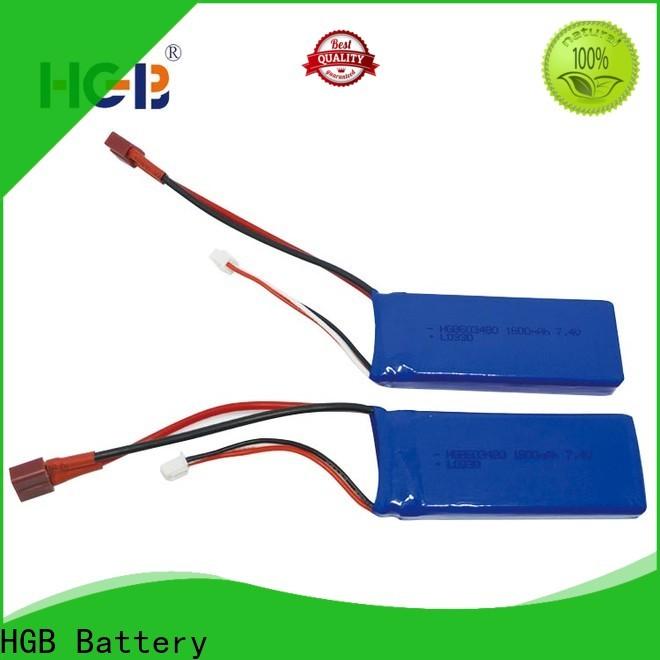 HGB li poly rc battery factory price for RC planes