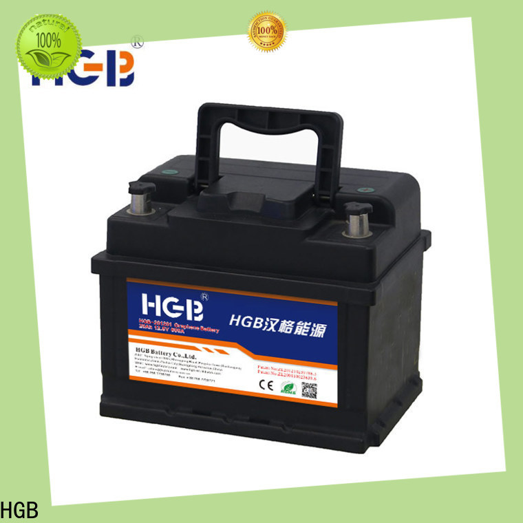 HGB graphene car batteries supplier for vehicle starter
