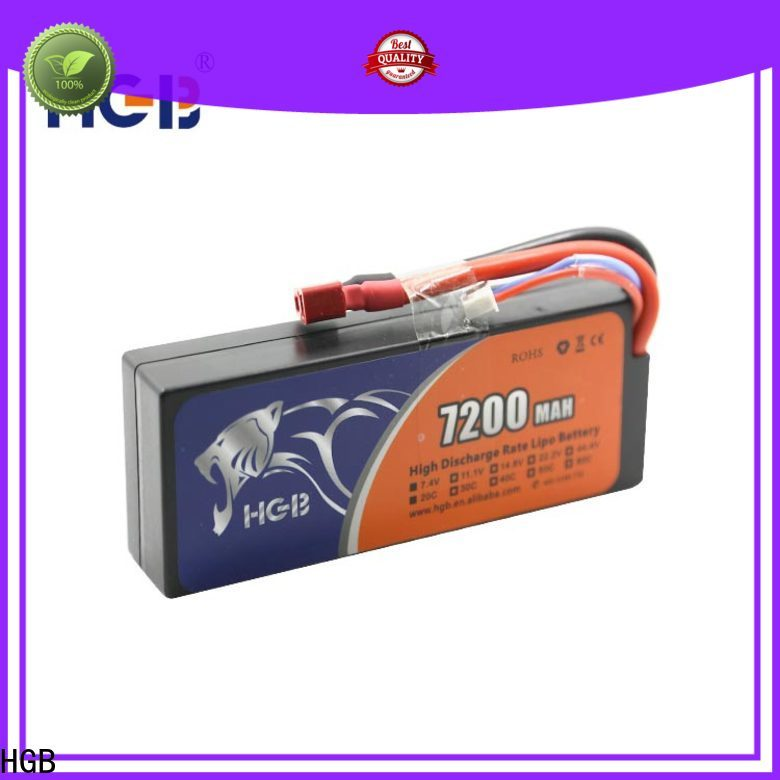 HGB rechargeable rc airplane batteries factory price for RC quadcopters
