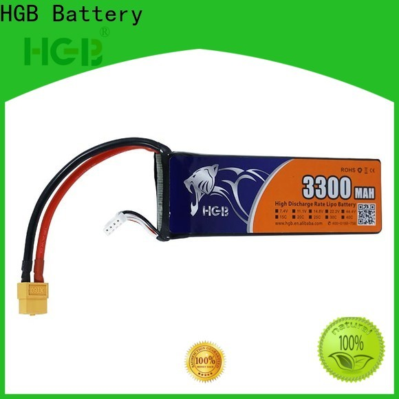 HGB high quality rc batterier factory price for RC quadcopters