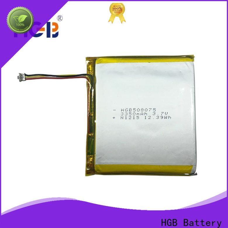 HGB rechargeable lithium polymer battery factory price for mobile devices