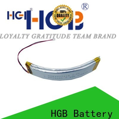 HGB rechargeable flexible rechargeable battery customized for multi-function integrated watch
