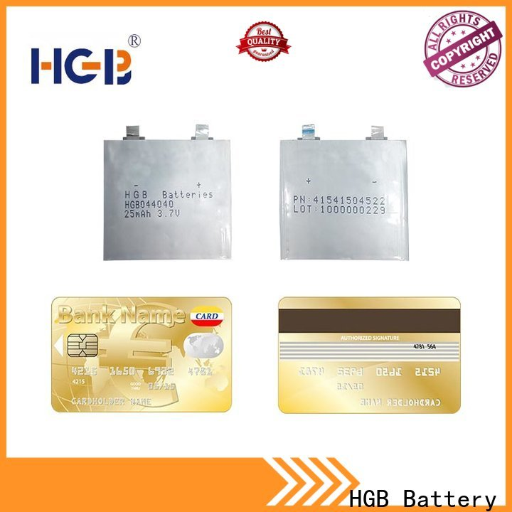HGB long cycle life thin battery directly sale for wearable devices