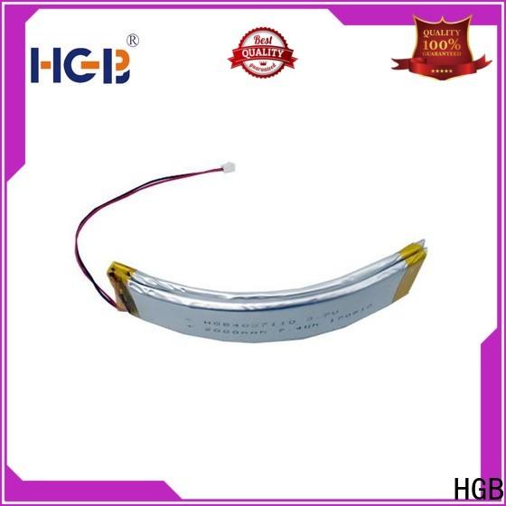 HGB flexible lithium ion battery design for smart bracelet