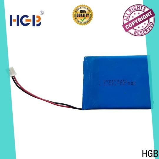 HGB good quality flat lithium ion battery pack customized for mobile devices