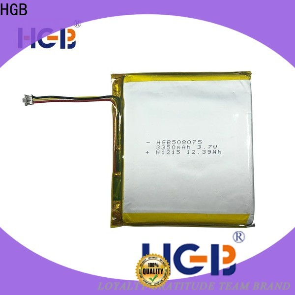 HGB reliable rechargeable lithium polymer battery customized for notebook