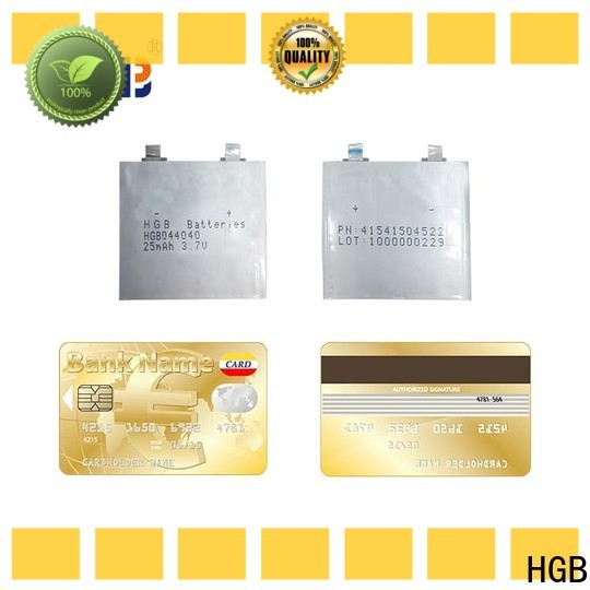 HGB high voltage ultra thin lithium polymer battery supplier for tracking devices