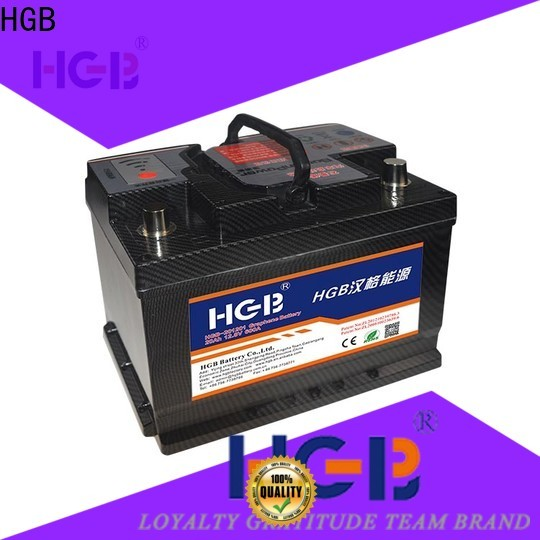 HGB 6 volt car battery customized for tractors