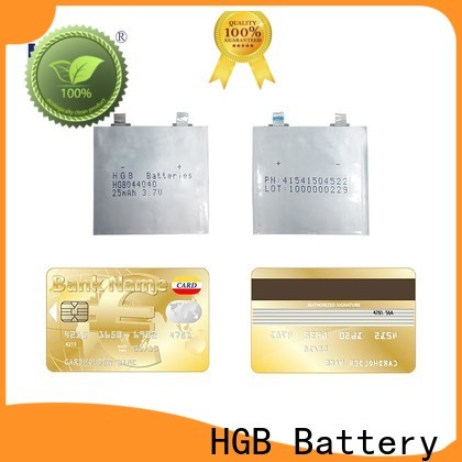 HGB Latest ultra thin lithium battery series for wearable devices