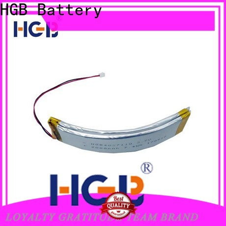 HGB flexible rechargeable battery customized for wearable battery
