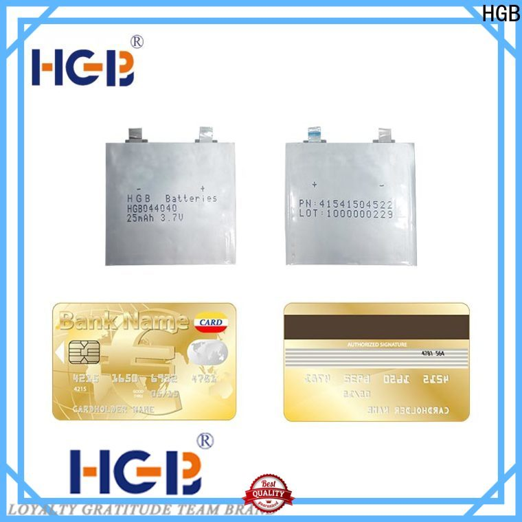HGB Eco-friendly ultra thin lithium battery manufacturer for tracking devices