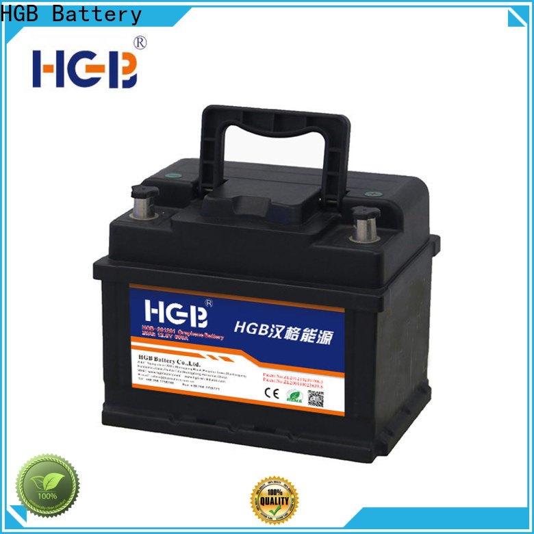 HGB Best 12 volt car battery price Supply for tractors