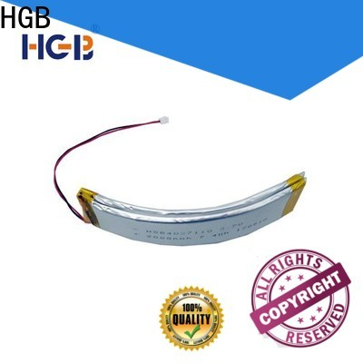 fast charging curved lithium polymer battery design for wearable battery