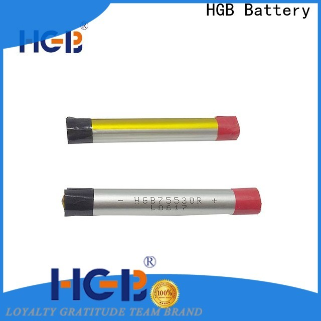 HGB long lasting lithium polymer li poly batteries manufacturer for rechargeable devices