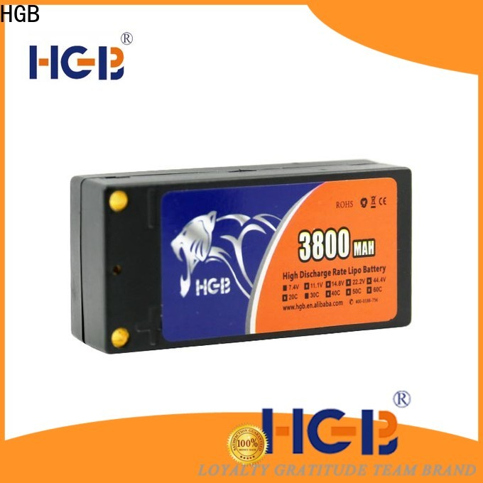 HGB rc lithium ion battery factory for RC helicopter