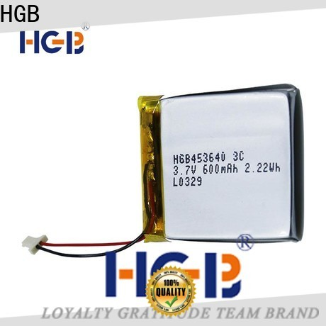 HGB good quality flat lithium ion battery pack directly sale for mobile devices