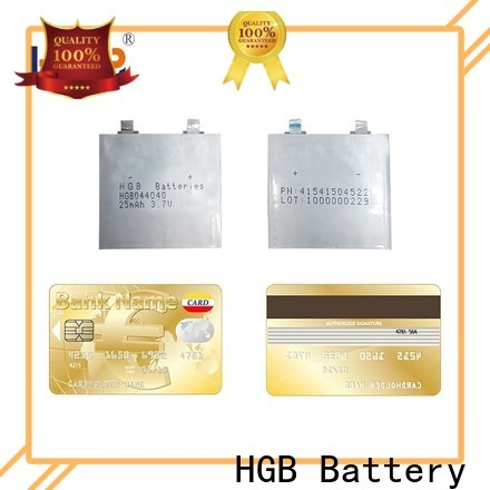 HGB super thin battery directly sale for portable sensors power cards