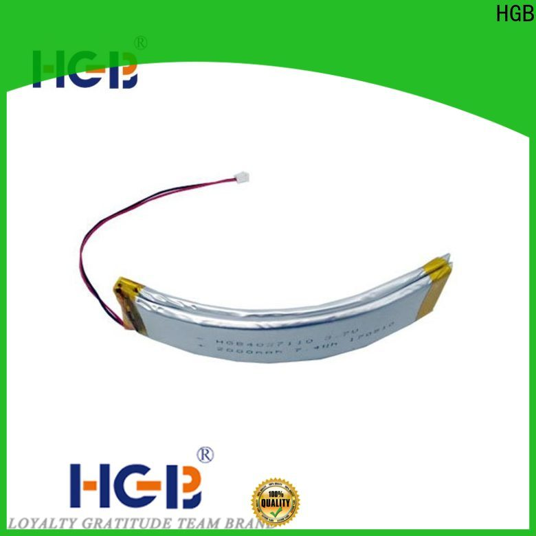 HGB High-quality flexible lithium ion battery for business for multi-function integrated watch