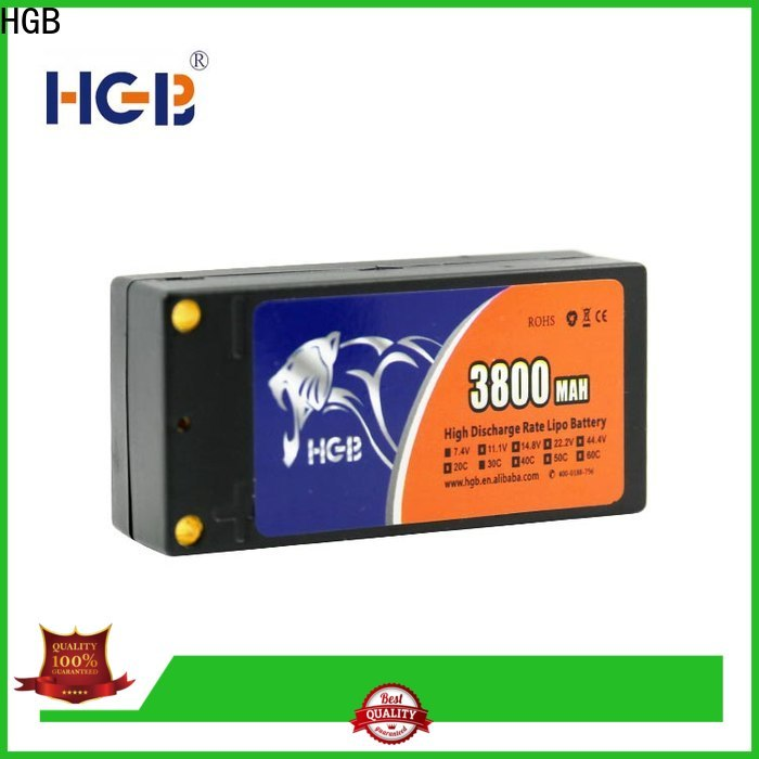 HGB rechargeable lithium battery rc car directly sale for RC helicopter