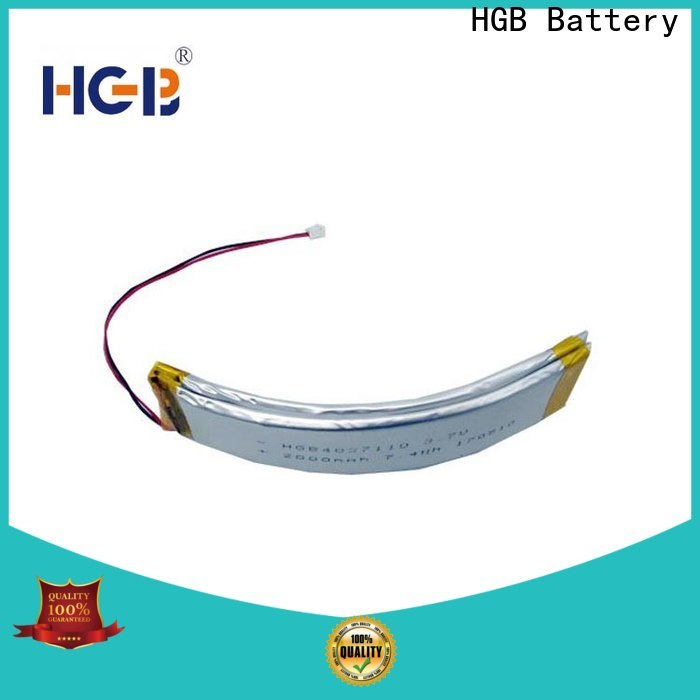 HGB curved lithium polymer battery company for multi-function integrated watch