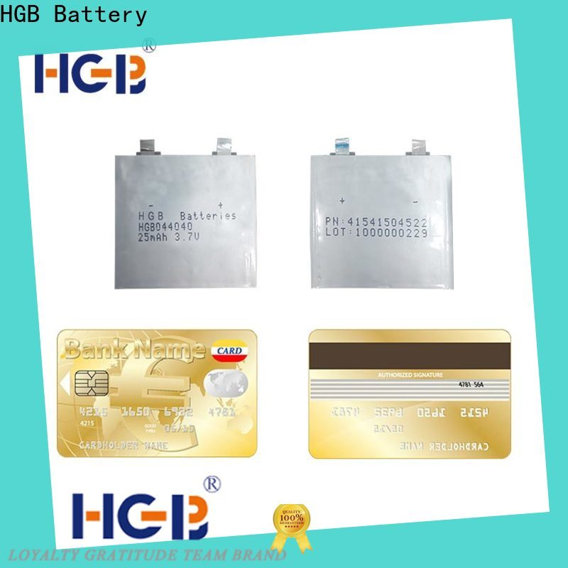 HGB ultra thin lithium battery for business for portable sensors power cards