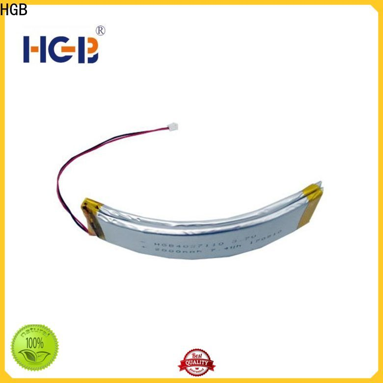 HGB flat 2D shape flexible lithium battery customized for multi-function integrated watch