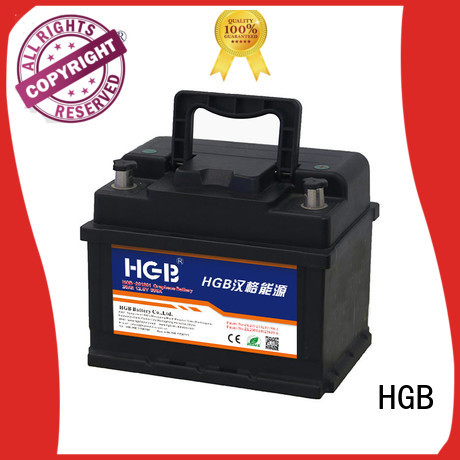 HGB charge quickly graphene car batteries with good price for vehicle starter