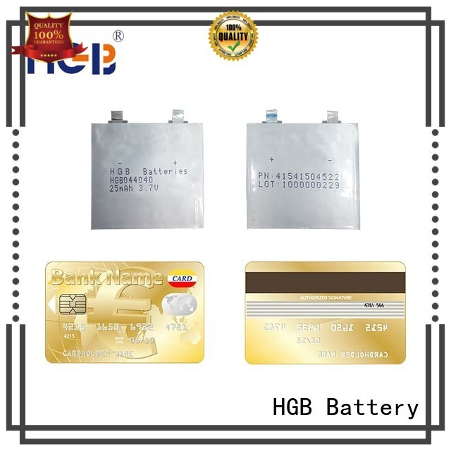HGB thin li ion battery supplier for micro speakers