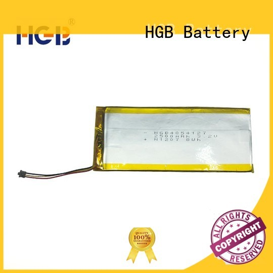 HGB flat lithium polymer battery directly sale for computers