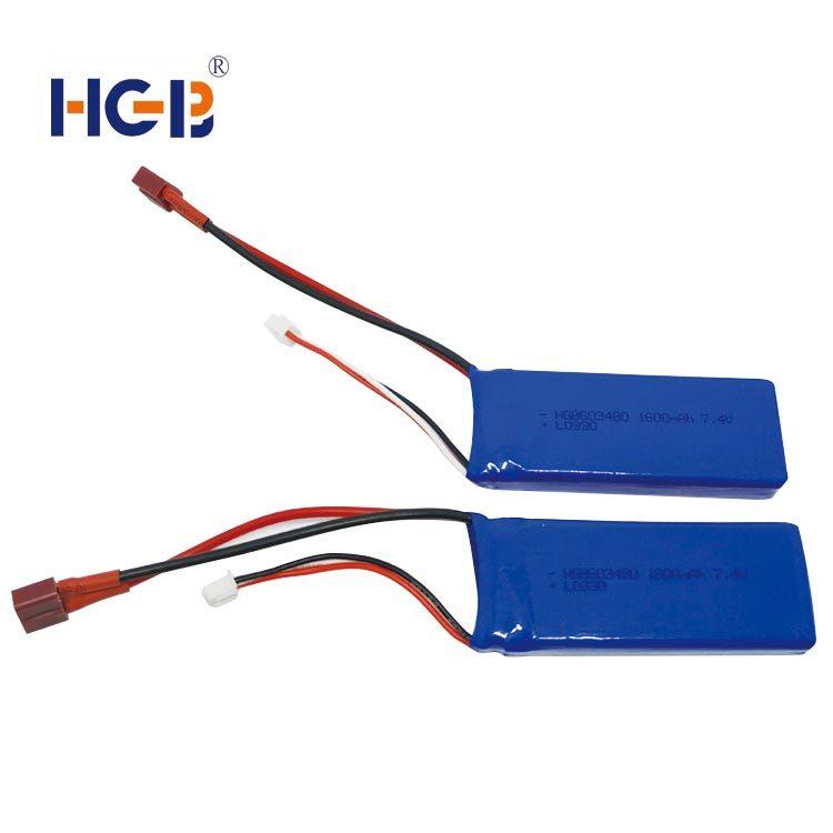 RC battery 7.4 V 20C 1600mAh HGB603048