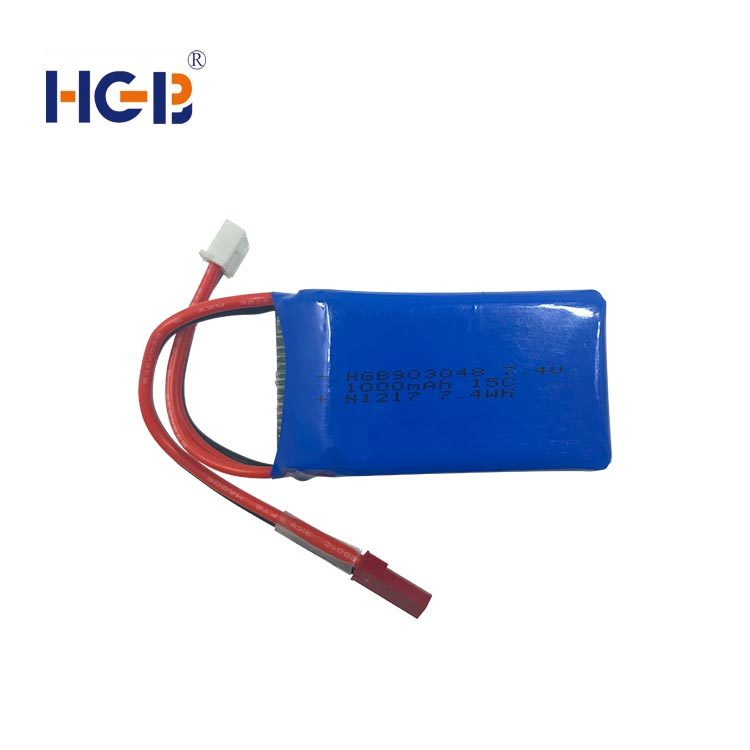 RC battery 7.4V 2S1P 15C 1000mAh HGB903048