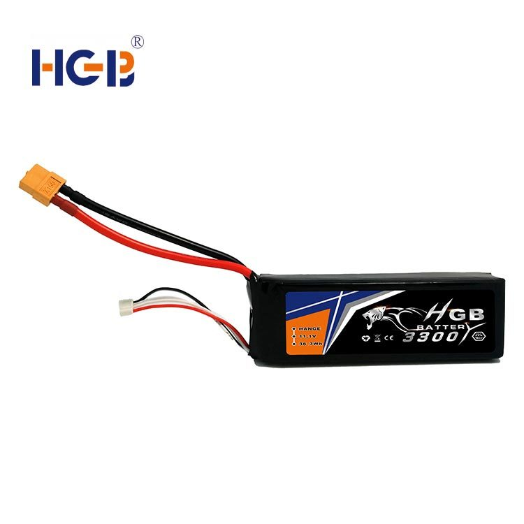 RC battery 11.1V 3S1P 30C 3300mAh HGB8543125