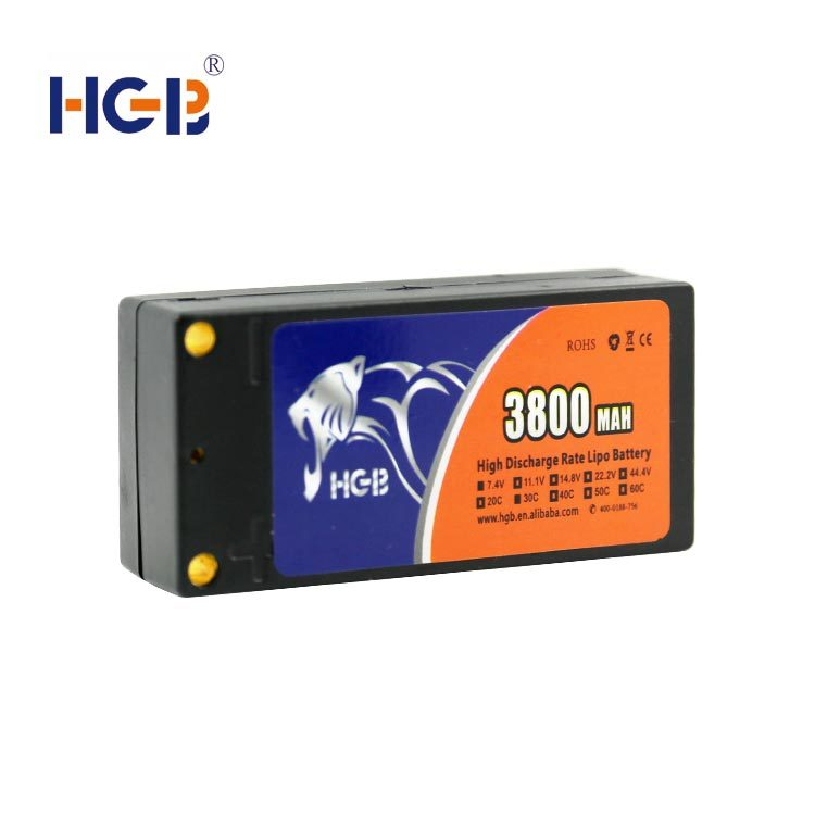 RC battery 7.4V 3800mAh 30C HGB804383