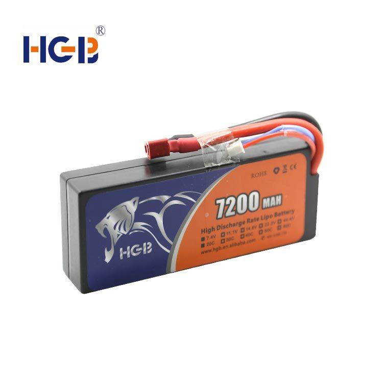 RC battery 11.1V 3S2P 20C 7200mAh HGB5543125