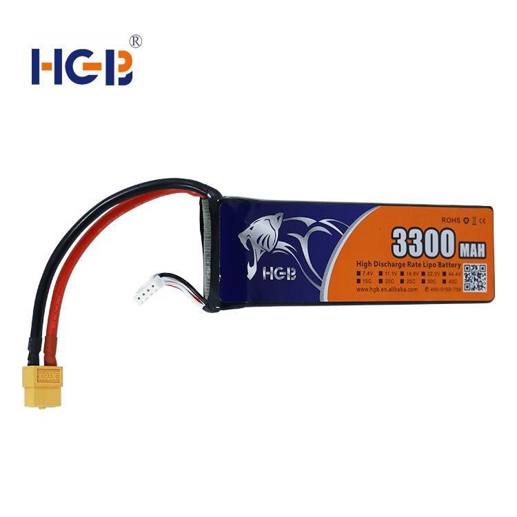 RC battery 11.1V 3S1P 3300mAh HGB7043125
