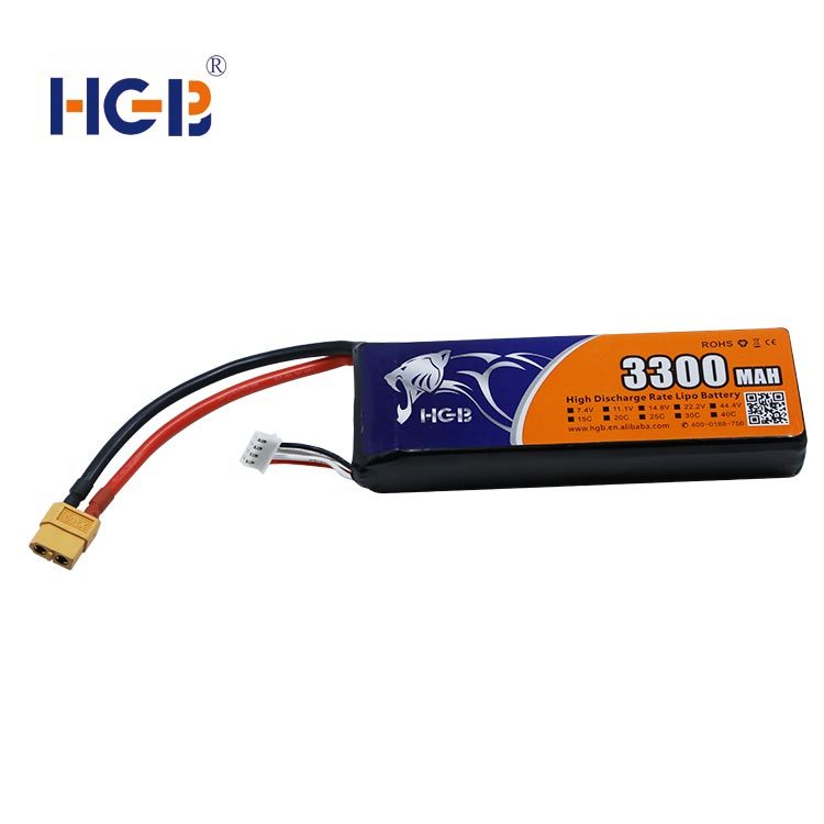 RC battery 11.1V 3S1P 3300mAh HGB7043125