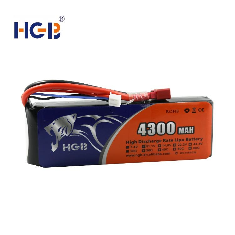 RC battery 11.1V 3S1P 20C 4300mAh HGB7243125